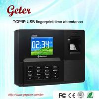 Biometric TCP/IP fingerprint attendance with color screen A-C030T