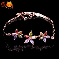 Jewellery   colors Crystal   lady's18K Rose  Gold Plated   bracelets for women gift