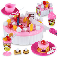 Girl toy fruit birthday cake set assembling toys