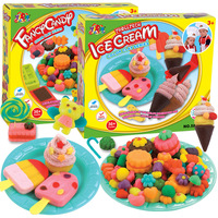Single boxed ice cream birthday cake hamburger qq sugar color clay mould set