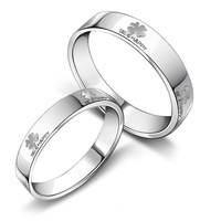 (min order 10$) 2013 Hot Selling Platinum Plated Couple Ring Smooth Surface wedding bands Korean Fashion Jewelry 926