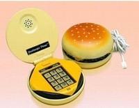 telefone Hamburger telephone fashion mini telephone household landline phone cartoon  telefon
