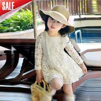 (90-130cm) 5pcs/lot 2014 Spring Long Sleeve Girl Tulle Dress Princess Dress For Kids wear Clothing White free shipping