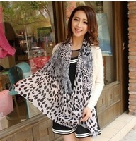 New Style Fashion Hot Leopard Scarf Women Warm animal print Leopard favorite super star shawl +Free Shipping