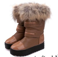 Fashion imitation fox fur boots  boots shoes round head antiskid short boots to keep warm cotton shoes, free shipping