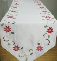 Embroidery flower cutout table runner table belt dining table coffee table heat insulation pad cloth accessories fashion  =ZqU2