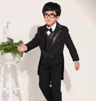 free shipping wholesale 21 sets/ lot  child tuxedo male child formal dress set  wedding stage clothing 6 pcs/ set