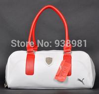 Black/White new 2013 brand designer leather gym bag women/men luggage & travel bags,sport bag large gym duffle bags items GB116