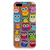 Lovely Cute Owl Pattern Hard Phone Case for iPhone 4/4S Free Shipping