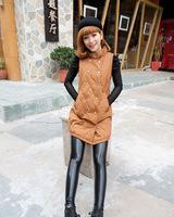 Free shipping 2014 winter hot women Villus Inside Upset Warm thickening  Imitated Leather  black Leggings