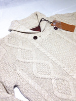 2013 autumn and winter vintage biaogu male thickening stand collar sweater tails knitted sweater