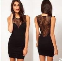 Hot sale new women lace dress slim in high quality for female S,M,L,XL