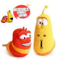 candice guo! fun insect slug creative Larva plush toy doll valentine's day birthday gift 2pcs/lot