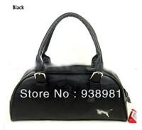 Free shipping Black/White 2013 designer leather gym bag sport bag,duffel bag leisure handbags bags women brand items GB37