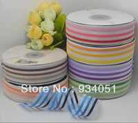 "100 yard for one color Sweet willian Ribbon 0.6""Strip Little Polyester Organza Ribbon diy hairbows Paint Ribbon Free Shipping"
