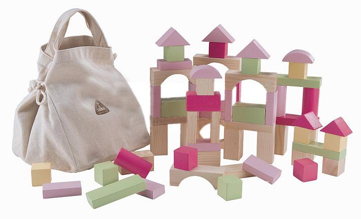 Free shipping Elc blocks 100 storage bag child wooden blocks toy large(China (Mainland))
