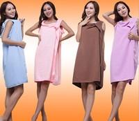 Bath towel 100% cotton bow bath skirt bathrobes khan steam clothes towel tube top design bathrobe
