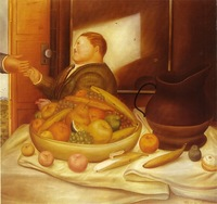 Oil Painting Reproduction,hello By Fernando Botero,24X24'',Free Fast DHL Shipping,100% handmade,museum quality