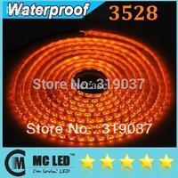 Wholesale - 5M Waterproof SMD 3528 300 Leds Yellow Flexible Led Strips Light 12V For Christmas/KVT/Hotel/Bar Lighting + Free Fem