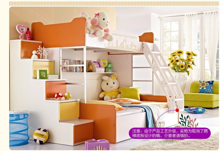 Gratis verzending kinderen meubilair kinderen stapelbedden met trap kinderen stapelbed - Stapelbed met opslag trappen ...