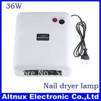 With original box 36W 220V/110-127V  Nail Art UV Gel Curing Lamp Tube Light Dryer RT56