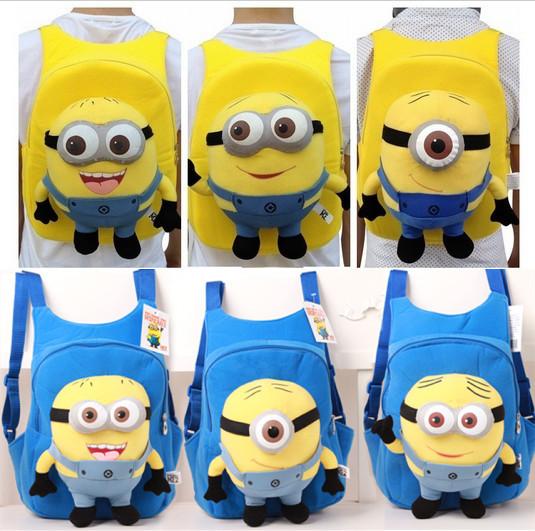 Despicable Me 2 Minion Cute Baby Kid cartoon character schoolbag funny ...