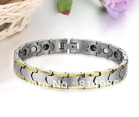 Tungsten steel magnetic health bracelets fatigue and improve sleep to prevent radiation bracelet does not fade free shipping