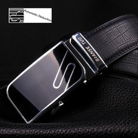 Belts leather strap automatic buckle cowskin male fashion waist belt 125cm Free shipping