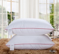 Pillow/ Throw pillows /100% Feather Silk/light Pillow/Zero Pressure Memory Pillow Neck Health / Blue textile bedding