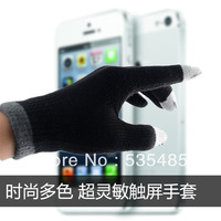 Free shipping!Capacitive touch screen savers couple of warm wool gloves winter gloves touch screen phone refers magic gloves for