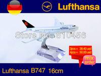 Free Shipping!! Germany Lufthansa  B747 16CM 1:400 rc plane model,avaition model, aircraft model
