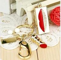 NEW 2014 Holiday gift pen drive crystal diamond jewelry usb memory card lipstick waterproof 8G usb flash drive diamond necklace