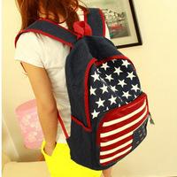 Free Shipping New Arrival Backpack , Mne and Women Cavans Backpack , US flag School bag , shoulder bag flag