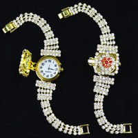 New Arrival ladies fashion luxury style watch women brand quartz watch  Rhinestone strap wristwatch