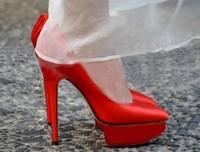 shoes woman fashion brand 2014 luxury satin fabric personalized platform shallow mouth women modeling high heels size 35-40