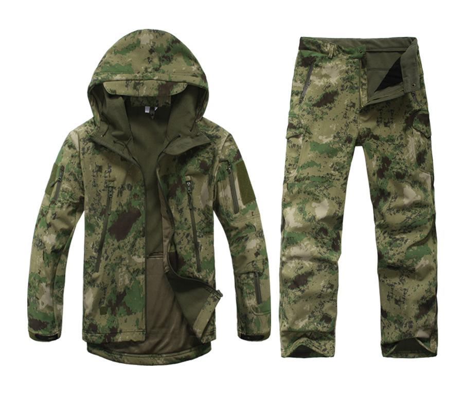 High quality Lurker Shark Skin Men's Soft Shell Jacket TAD Outdoor Military Jacket Camouflage Clothing Waterproof Fleece Jacket(China (Mainland))