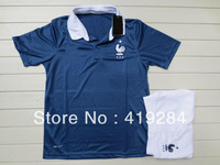 2014 World Cup in France jersey suits for children, youth soccer jerseys, free shipping French children's clothing