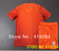 hot sell!!! 2013-14 Netherlands home orange kids/children/youth football jersey & shorts set, 13/14 Netherlands soccer uniforms