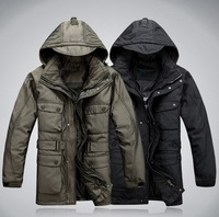 free shipping 2012 fashion Winter men overcoat wadded jacket winter men jacket men's clothing
