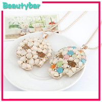 Fashion Lovely classic skull Opal Long neckalce ,best female new year gift