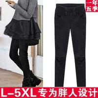 2013 fashion plus size clothing mm thick women's jeans legging