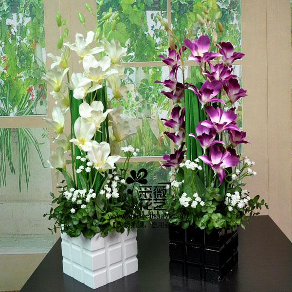- artificial flower set artificial flower small cattleya modern living room coffee table decoration flower(China (Mainland))