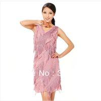 Free shipping Ballroom Waltz Salsa Samba Swing Cha Tango Rhythm Latin Gowns Dance Dress W0036