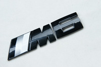 Car Badge Emblem ///M6 Motorsport E24 E63 E64 F12 F13 3D Logo Glossy Black
