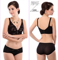 Luxury push up womens bras and underwear sets