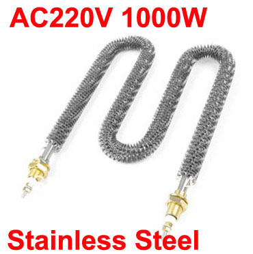 Custom Welcomed!! 1000W 220V AC W Shape Stainless Steel Electric Tubular Finned Heater(China (Mainland))