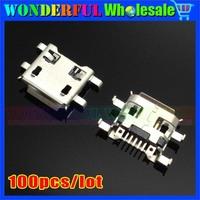 Free shipping 100pcs/lot Micro USB 2.0 female connector/USB jack