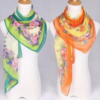 2013 NEWEST,160cmx50cm,ladies shawls scarf, flower print silk Drape patchwork scarf! Free shipping!