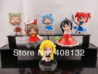 Lots 6 pcs Touhou Project Hakurei Reimu Action Figure New Free shipping& Wholesale