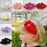 New Style Beautiful Lace Flower Bud Headband hairband Baby Girls flowers headbands,kids' hair accessories Baby Christmas gift